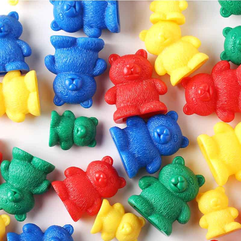 Toy Children Education Puzzle Toy Plastic Color Sorting Bears Toys