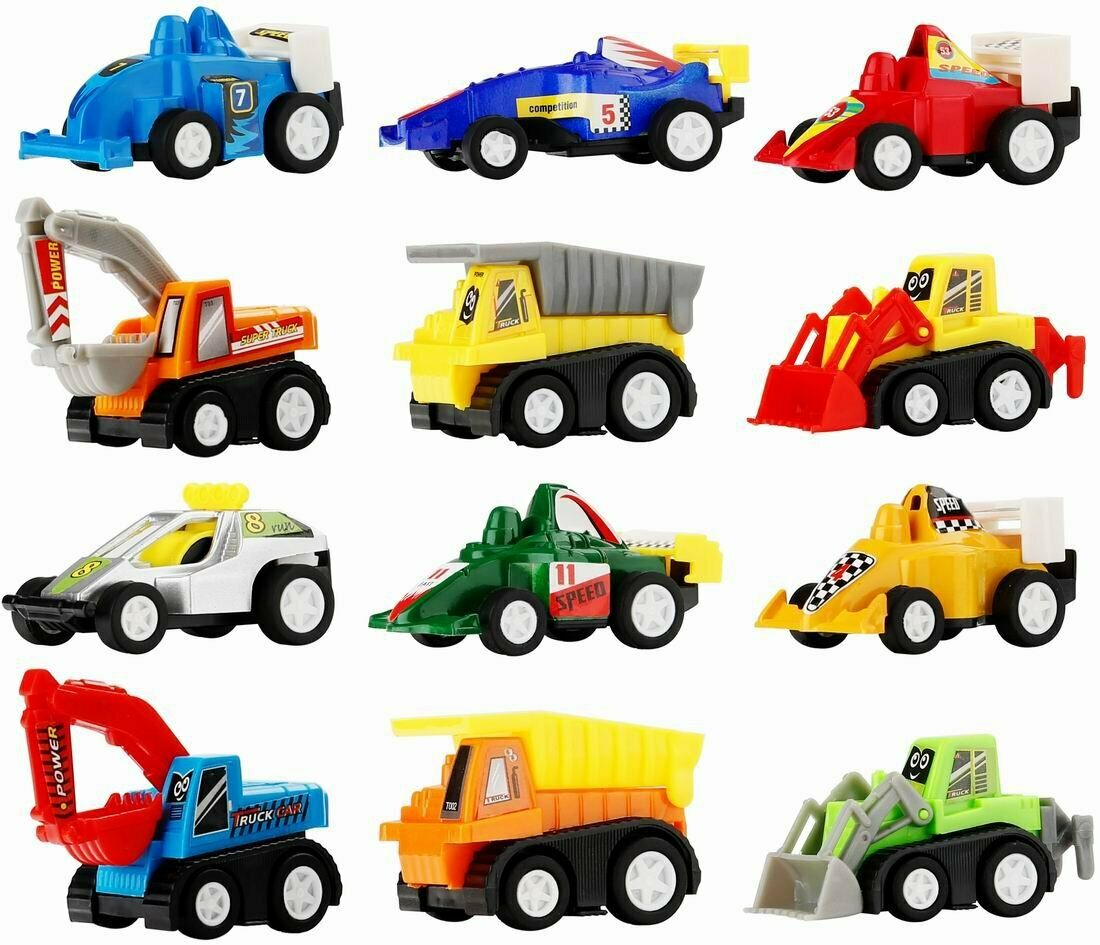 Toy Cars for Toddlers Boys Kids - Pull Back Truck And Car Party Favors for Kid