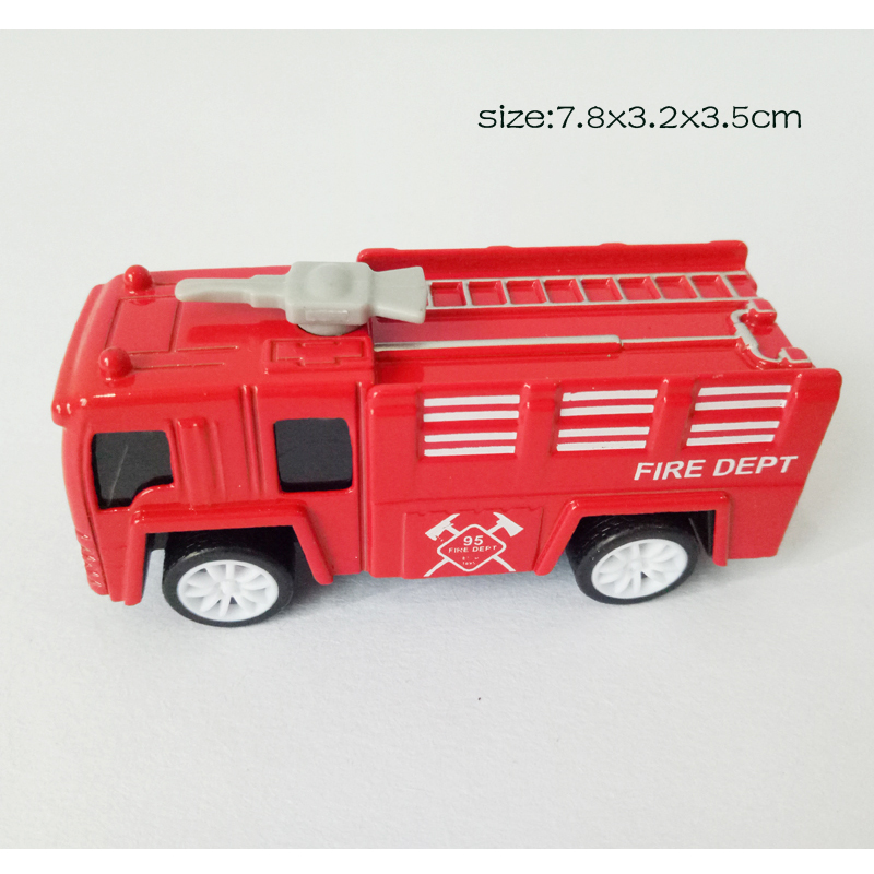 1:60 Scale Metal Truck Fire Engine 4 Models Mix Packing