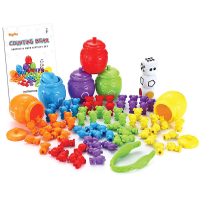 Plastic Counting Sorting Bears Toy Set with Matching Sorting Cups Toddler Game for Pre-School Learning Color Recognition Stem Education