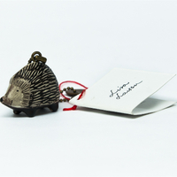 Promotional Animal Shaped Plastic Hedgehog Keychain for Gifts