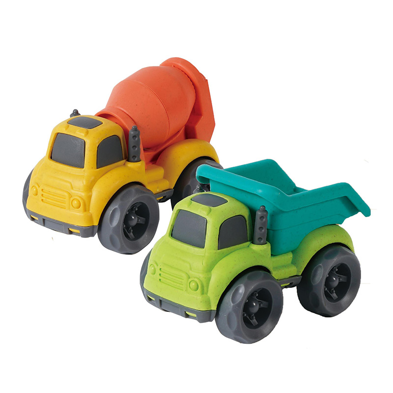 China Factory Plastic Toy Car Free Wheel Construction Vehicle Truck Toy for 5+