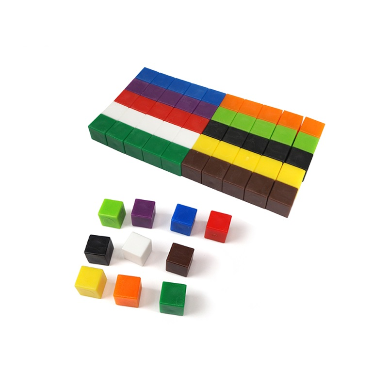 1cm Plastic Colorful Counting Cubes