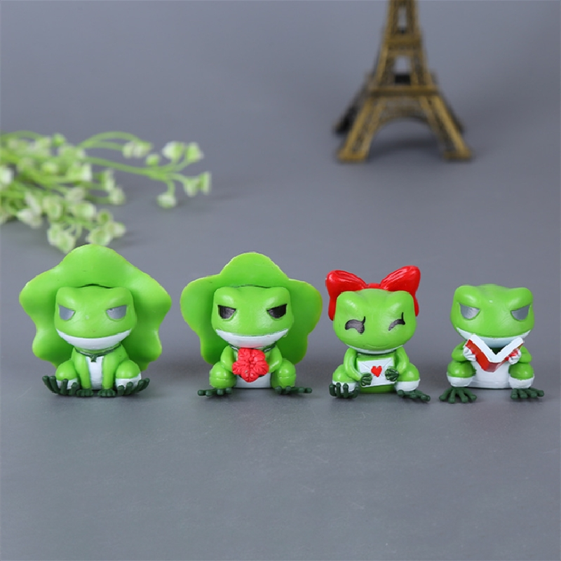Hot Sale Plastic Cartoon Frog Action Amine Figures