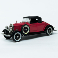 High Quality 1/18 Scale Plastic Car Model Vintage Car for Gift