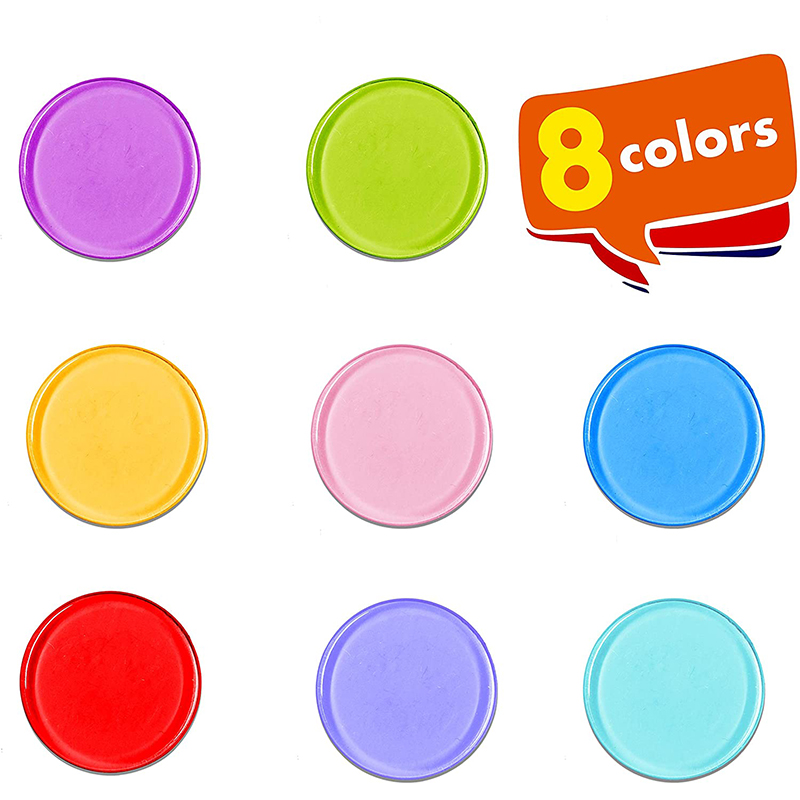 Transparent 8 Colors Clear Bingo Counting Chip Plastic Toys