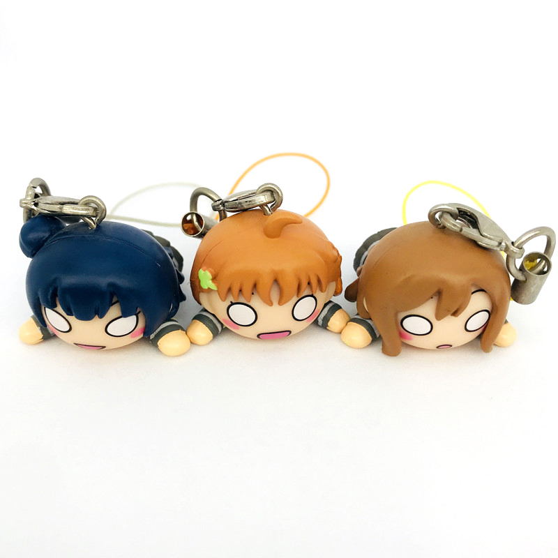 OEM/ODM 3D PVC Material Cartoon Kawaii Toys Anime Animal Action Figure Phone Car Keychain