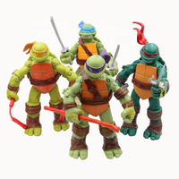 Collectible Vinyl Toy Japanese Cartoon Character Figure Ninja Turtles Anime Action Figures Plastic Material for Promotion