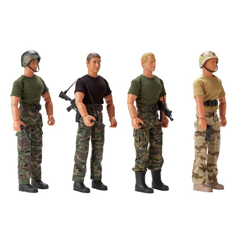 Customized Factory Made Miniature Anime Action Figure Military Toys Warriors Figure for Collection
