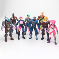 Japanese Movie Characters Battle Bears Royale Anime Action Figure Model PVC Figurines for Children Decoration Collection