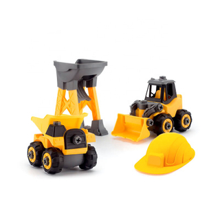 Kids Promotional Pull Back Alloy Engineering Vehicle Set ABS Gift Toys