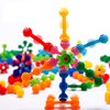 Top Selling Construction Building Blocks Small Colorful Rainbow Snow Flakes Plastic Construction Connect Set Kids Fun Toys for Educational Learning