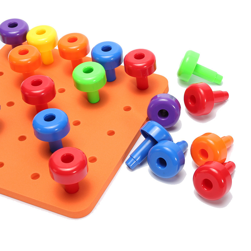 Educational Stacking Peg Board Toddler Toys Educational ...