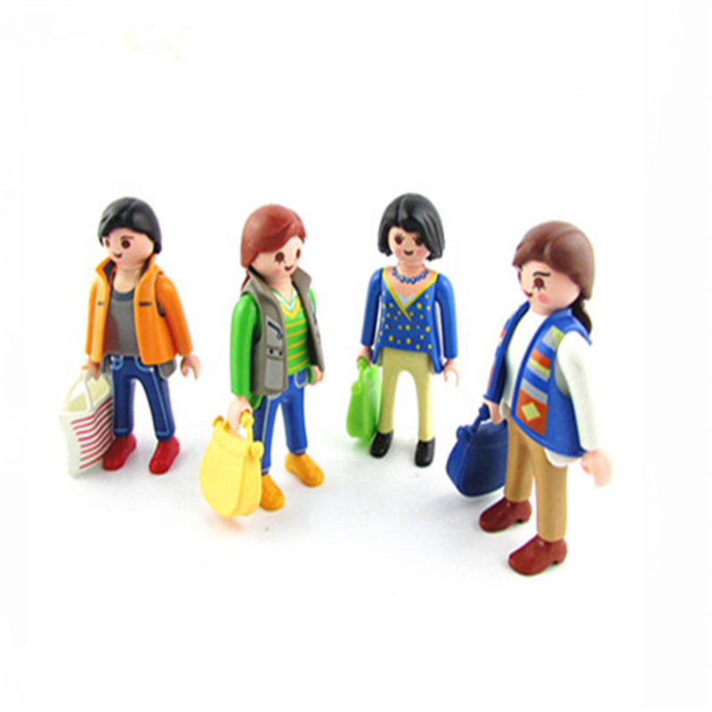 China Manufacturer Customized Factory Made Mini Plastic Playmobil in Block Action Toy Figure