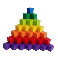 Educational Toys Learning Kids Manipulatives Colorful Plastic Centimeter Cubes 1.25 Cm Magnetic Plastic Cube Wholesales