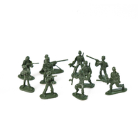 Novelty Miniature Soldier Anime Action Figure Plastic Injection Military Toys Warriors Figure
