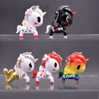 OEM Custom Plastic Animal Unicorn Horse Keychain