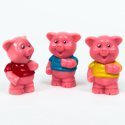 Wholesale Cheap PVC Plastic Animal Piggy Toy Figures