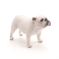 Solid simulation animal models bulldog 3D plastic pet dog toy