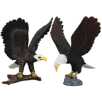 PVC Domineering Flying Black Eagle Plastic Animal Toy